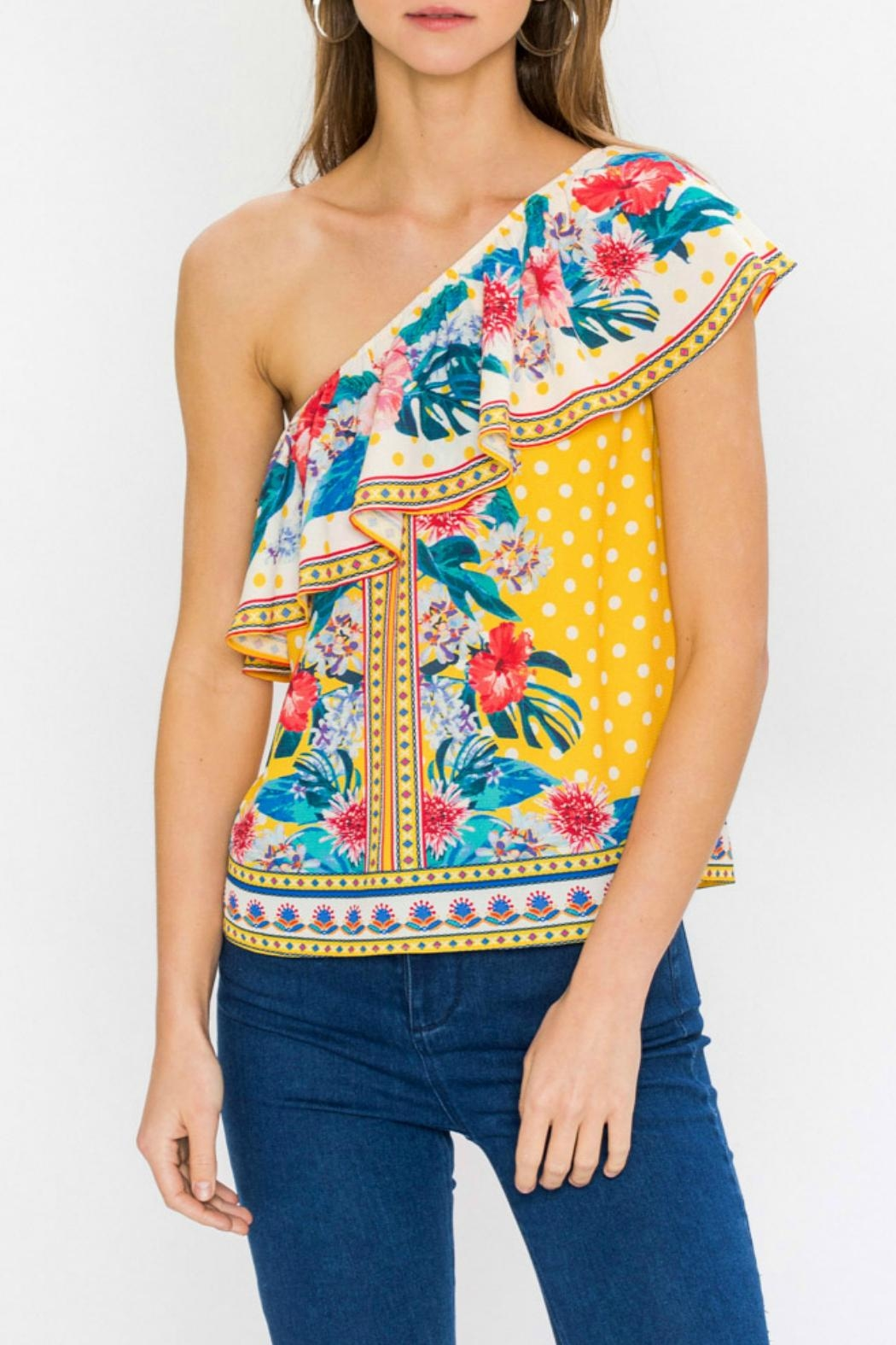 Flying Tomato Ayana One-Shoulder Top - Main Image