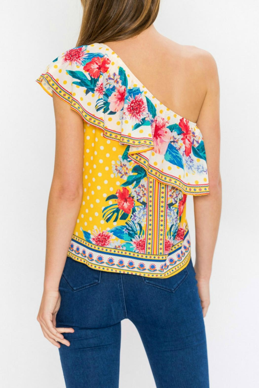 Flying Tomato Ayana One-Shoulder Top - Side Cropped Image