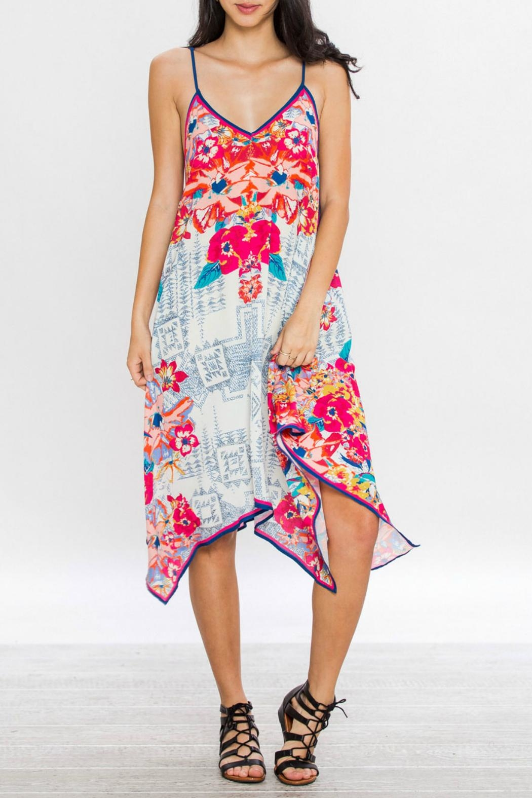 Flying Tomato Aztec Floral Dress - Main Image