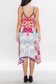 Flying Tomato Aztec Floral Dress - Back cropped