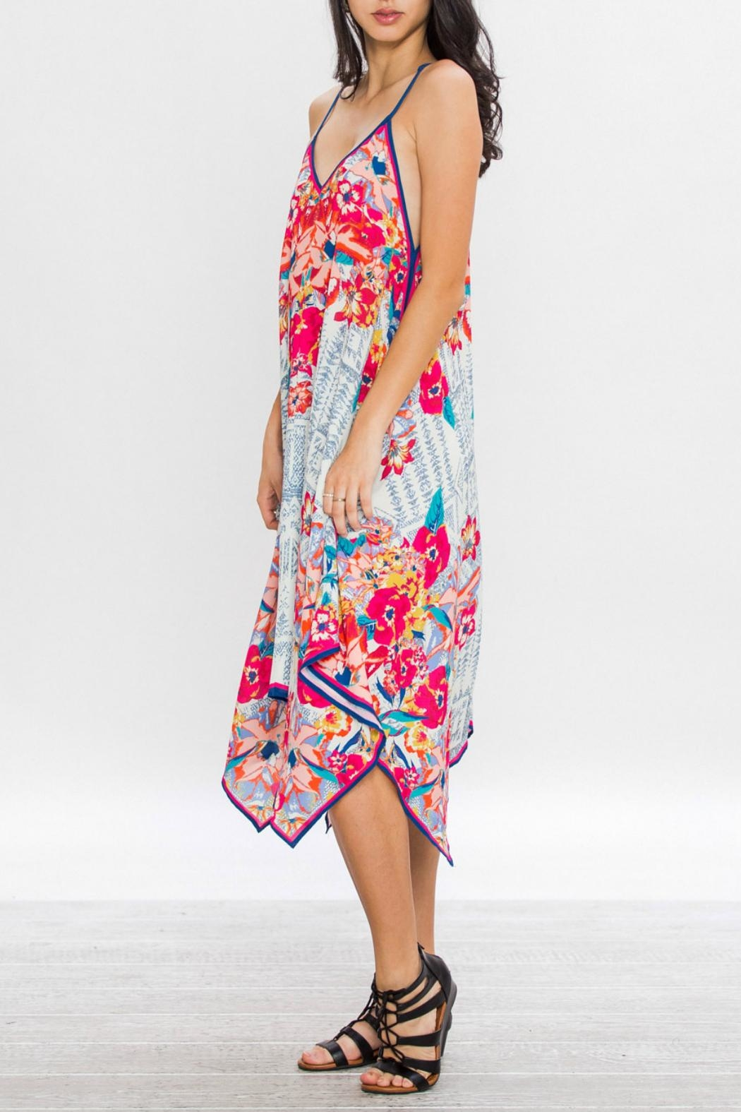 Flying Tomato Aztec Floral Dress - Side Cropped Image