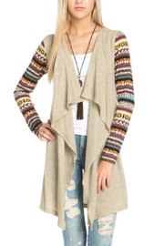 Flying Tomato Aztec Print Cardigan - Front cropped