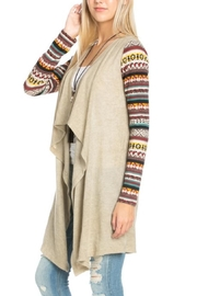 Flying Tomato Aztec Print Cardigan - Side cropped