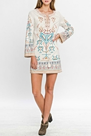 Flying Tomato Aztec Suede Dress - Product Mini Image