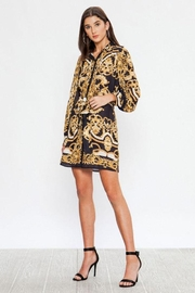 Flying Tomato Baroque Print Dress - Back cropped