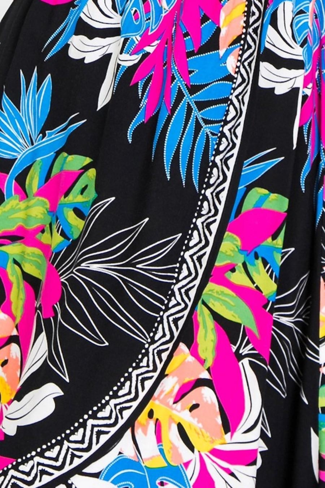 Flying Tomato Be Bright & Tropical Dress - Side Cropped Image