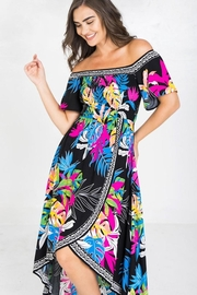 Flying Tomato Be Bright & Tropical Dress - Back cropped
