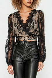 Flying Tomato Black Lace Top - Product Mini Image