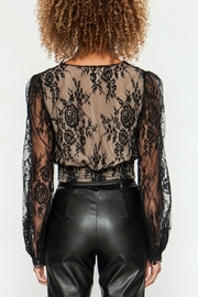 Flying Tomato Black Lace Top - Side cropped