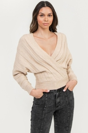 Flying Tomato Beige Sweater Top - Product Mini Image
