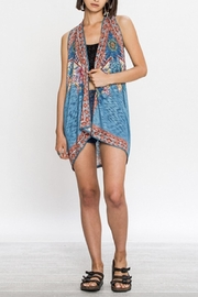 Flying Tomato Blue Aztec Vest - Product Mini Image
