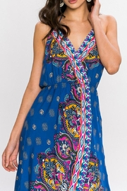 Flying Tomato Boho Maxi Blue Dress - Side cropped