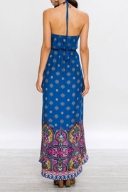 Flying Tomato Boho Maxi Blue Dress - Back cropped