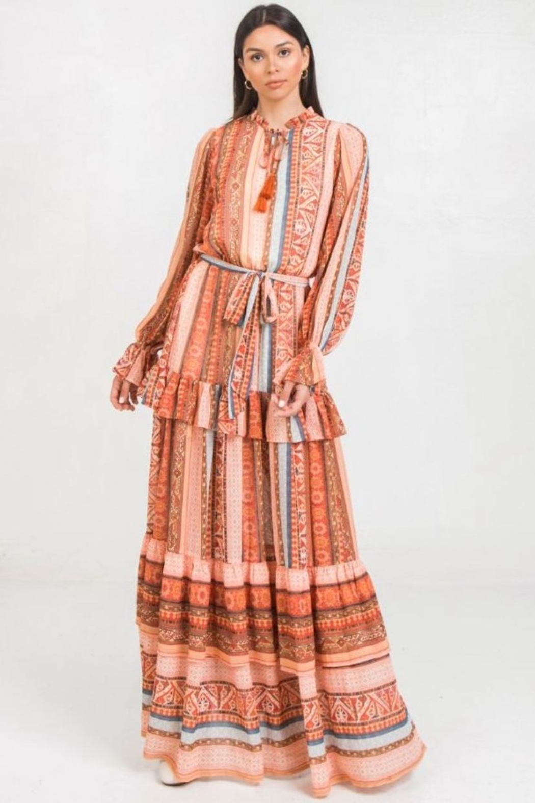 Flying Tomato Boho Maxi Dress - Main Image