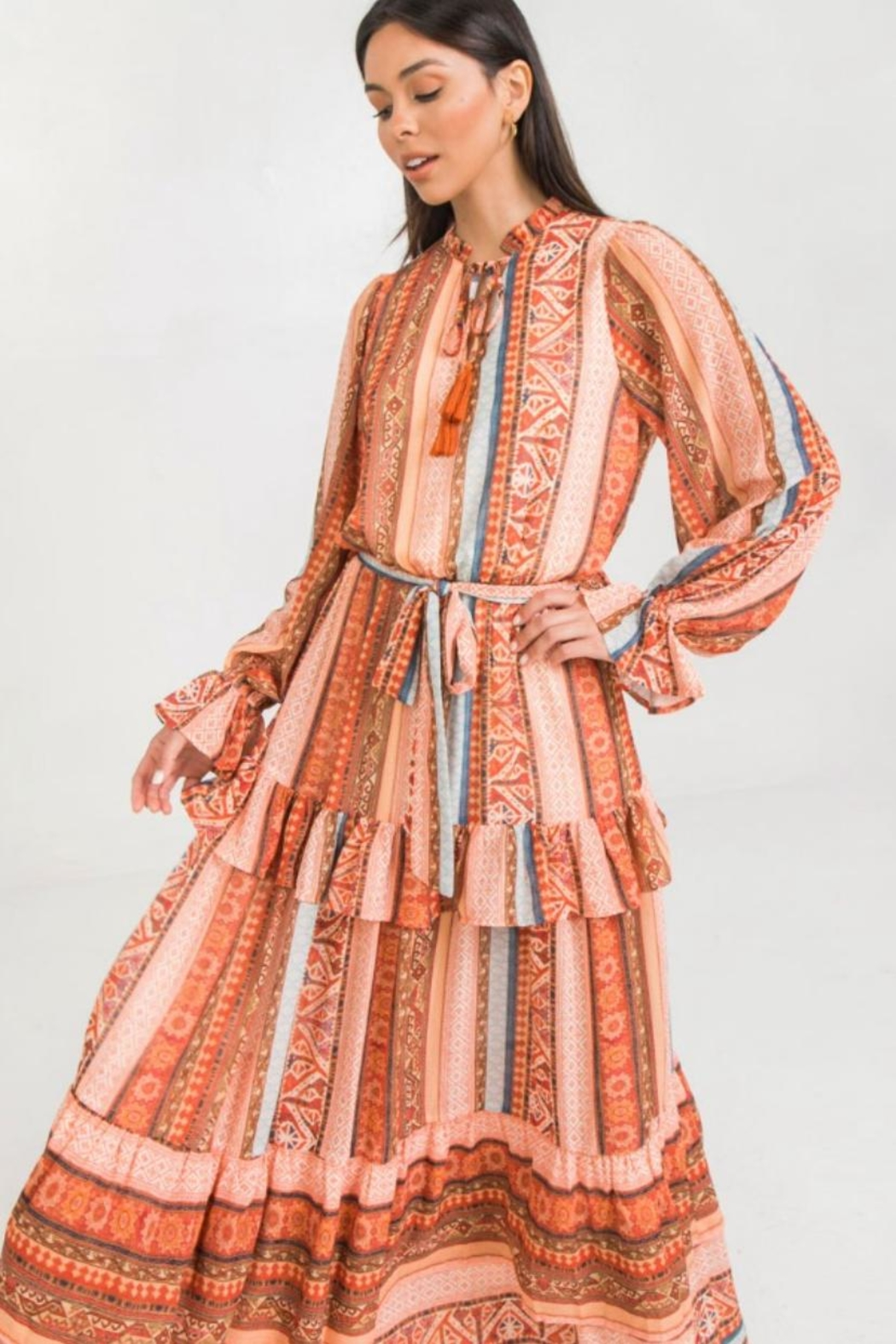 Flying Tomato Boho Maxi Dress - Front Full Image