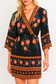 Flying Tomato Border Print Kimono Dress - Front cropped