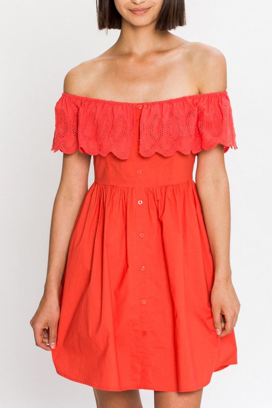 Flying Tomato Bright Day Dress - Front Cropped Image