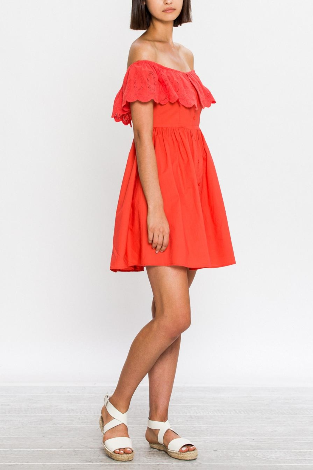 Flying Tomato Bright Day Dress - Side Cropped Image