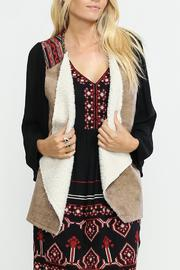 Flying Tomato Camel Suede Vest - Product Mini Image