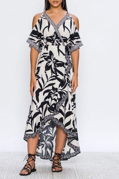 Shoptiques Product: Cold-Shoulder Wrap Dress
