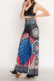 Flying Tomato Colorful Palazzo Pants - Back cropped