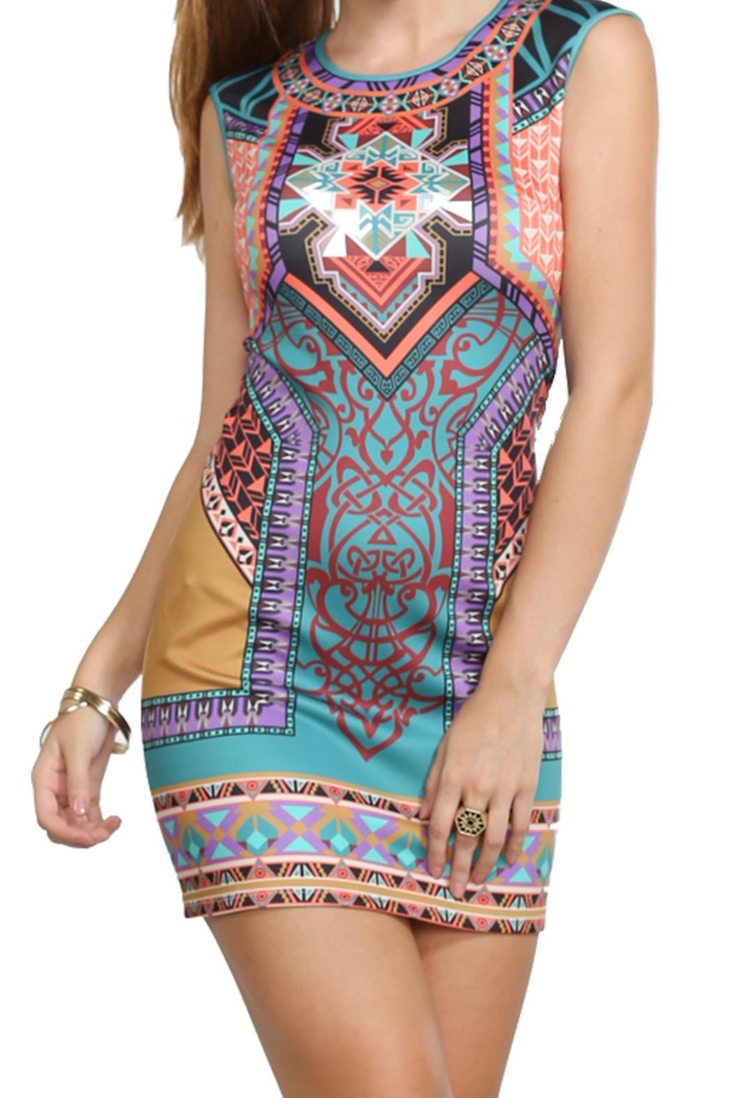 1ac1f6251d7 Flying Tomato Colorful Print Dress from New Orleans by All About Me ...