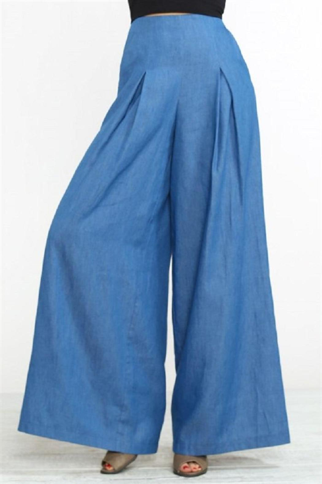 Flying Tomato Denim Palazzo Pants From Missouri By Domi