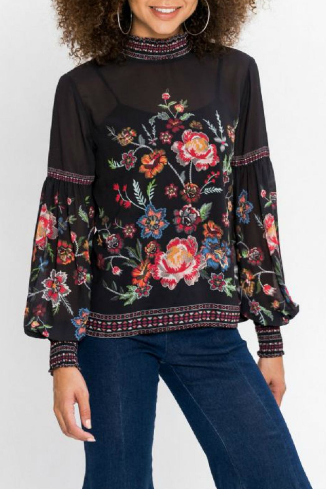 Flying Tomato Floral Longsleeve Top - Front Full Image
