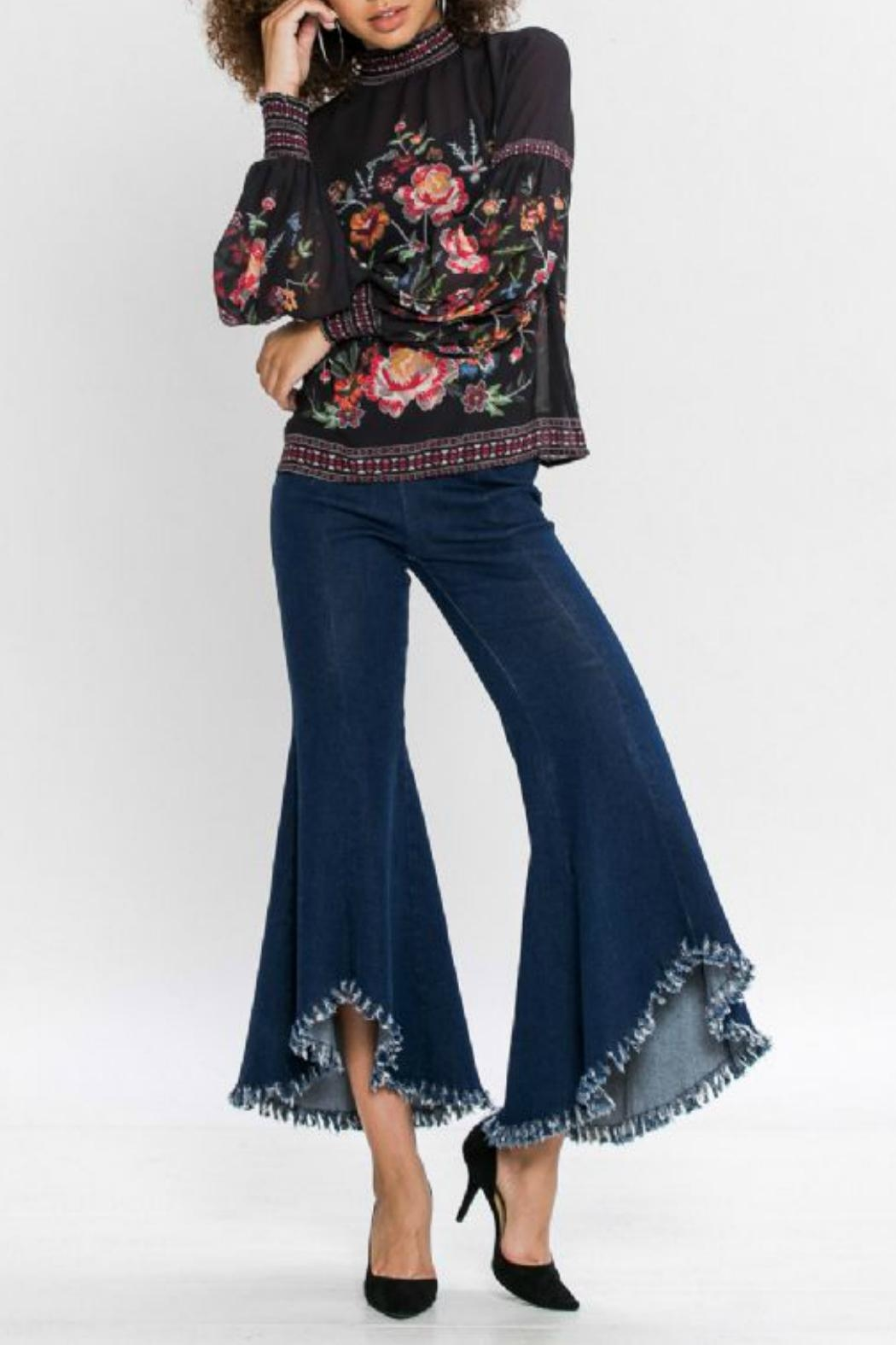 Flying Tomato Floral Longsleeve Top - Main Image