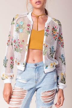 Shoptiques Product: Embroidered Mesh Jacket