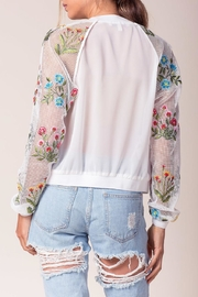 Flying Tomato Embroidered Mesh Jacket - Front full body