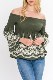 Flying Tomato Embroidered Off Shoulder Top - Product Mini Image