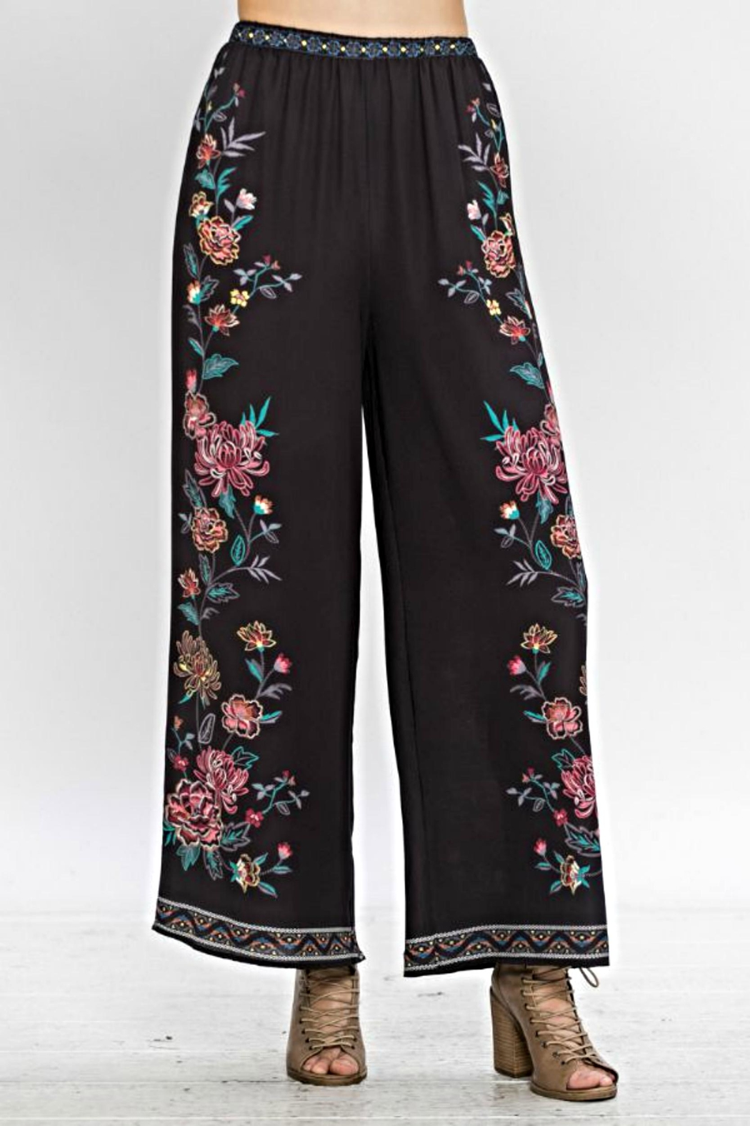 Flying Tomato Floral Bell Pants - Front Full Image