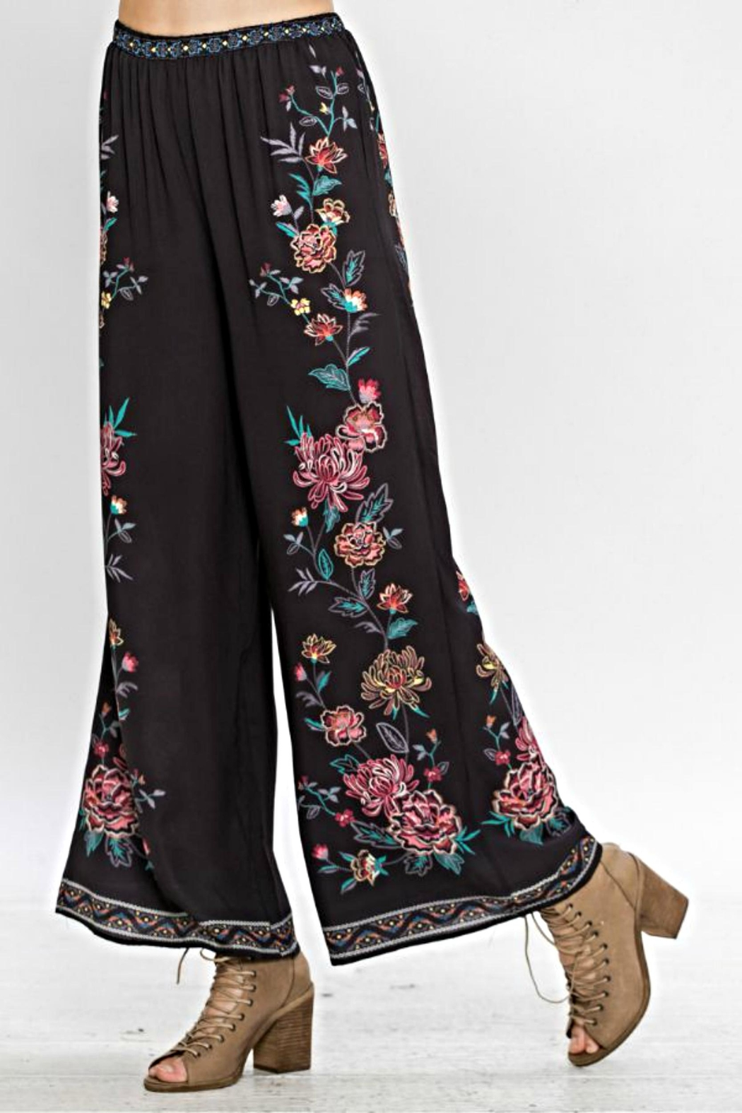 Flying Tomato Floral Bell Pants - Main Image