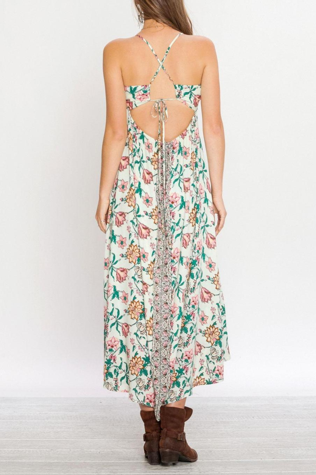 Flying Tomato Floral Gypsy Dress - Side Cropped Image