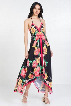 Flying Tomato Floral Halter Neck Dress With Handkerchief Hem - Product List Image