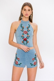 Flying Tomato Floral Halter Top - Product Mini Image