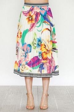 Flying Tomato Floral Midi Skirt - Product List Image