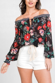 Flying Tomato Floral Off-The-Shoulder Top - Front cropped