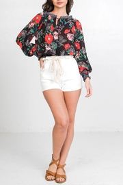 Flying Tomato Floral Off-The-Shoulder Top - Front full body