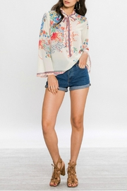 Flying Tomato Floral Print Blouse - Front full body