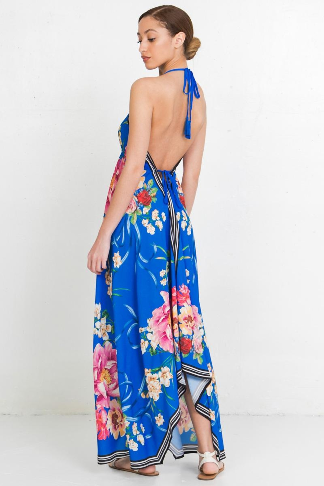 Flying Tomato Floral Print Dress - Front Full Image