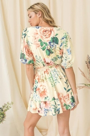 Flying Tomato Floral Puff-Sleeve Romper - Side cropped