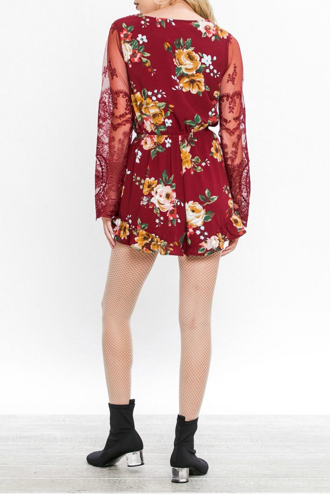 Flying Tomato Floral Romper - Side Cropped Image