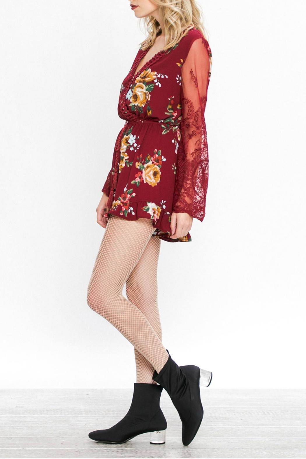 Flying Tomato Floral Romper - Back Cropped Image