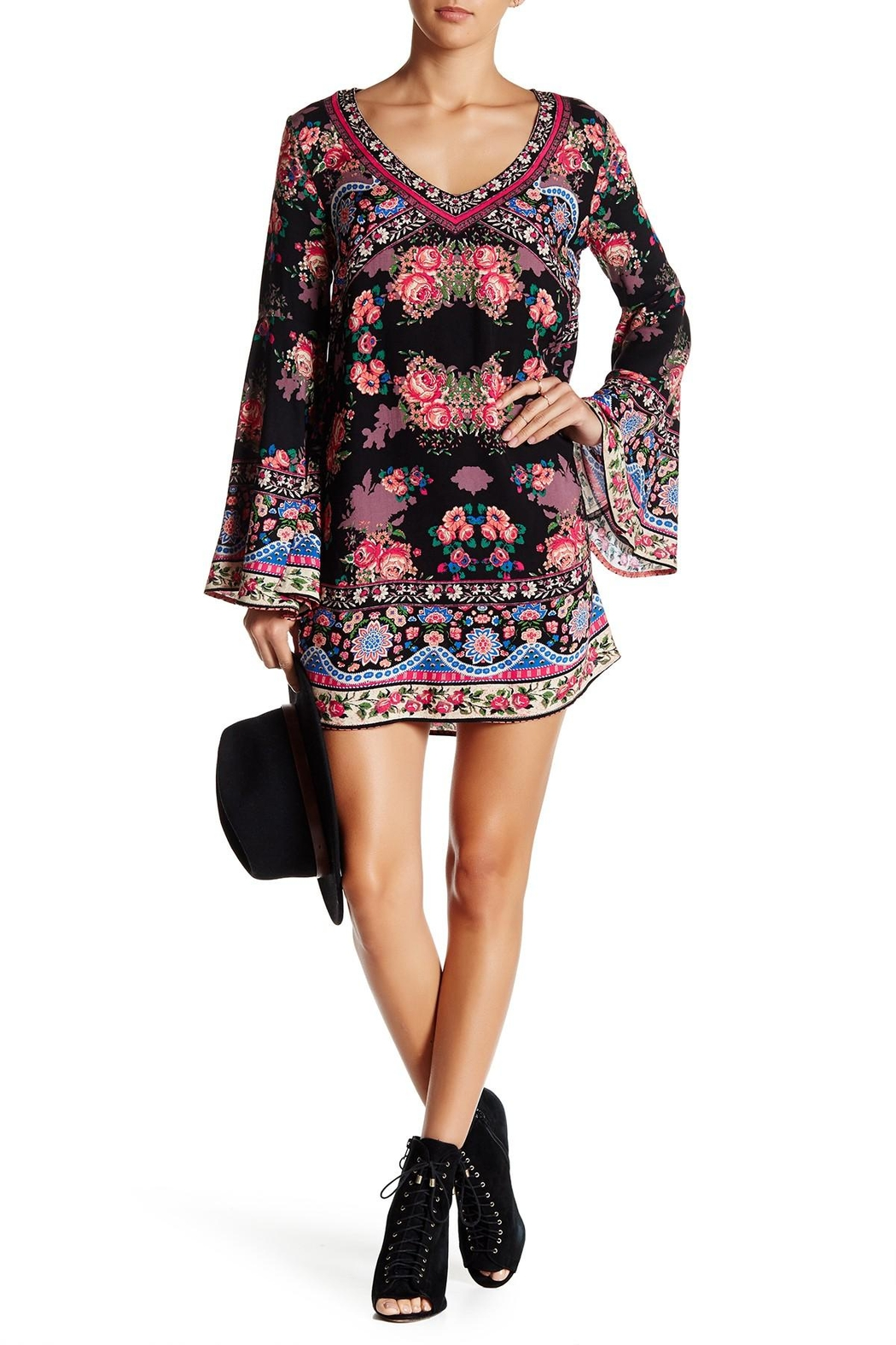 Flying Tomato Floral Shift Dress - Main Image