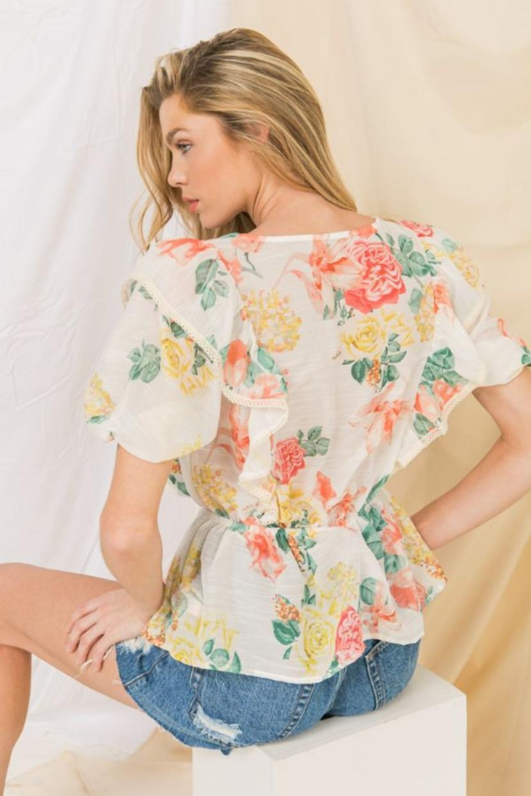 Flying Tomato Floral Top - Front Full Image