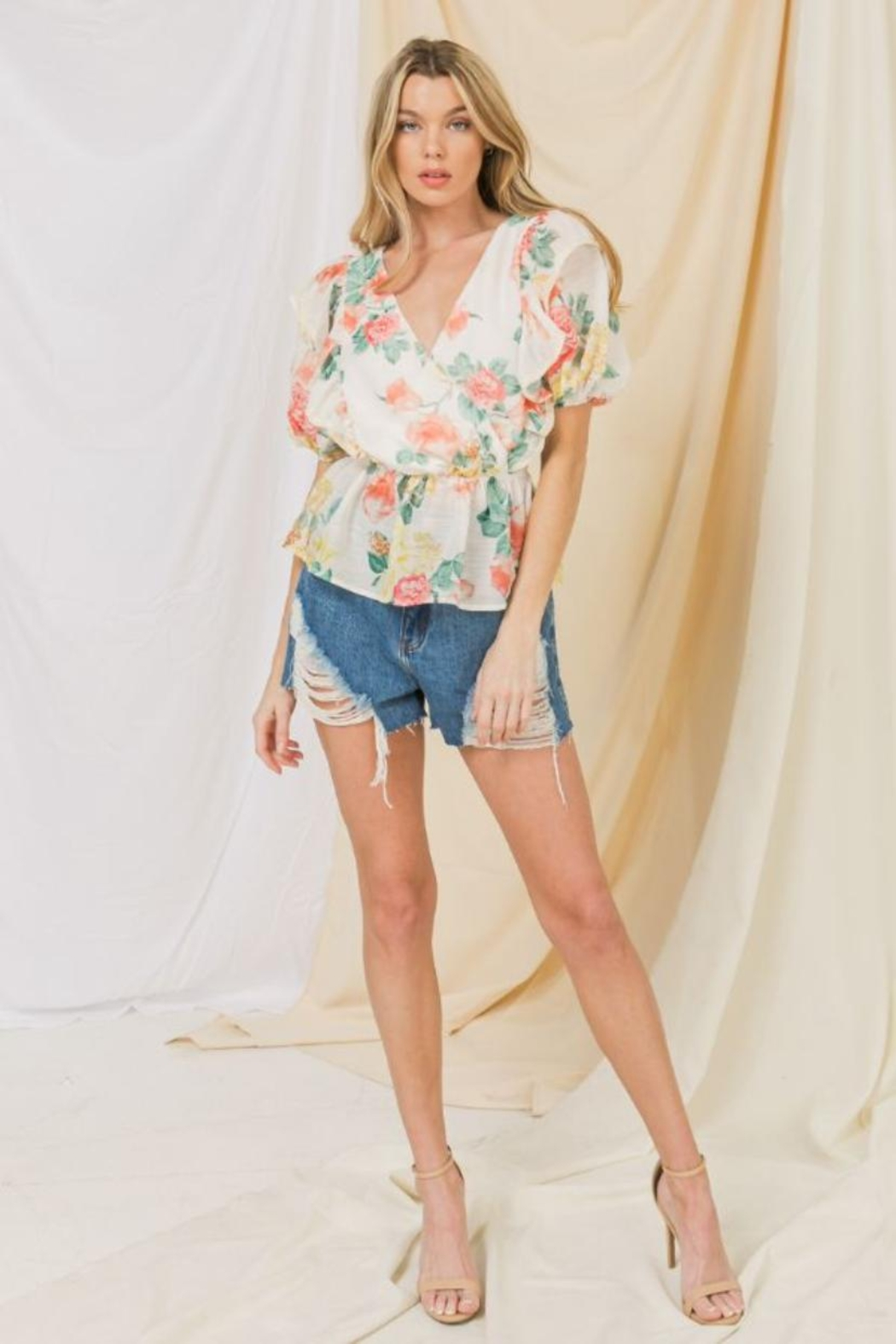 Flying Tomato Floral Top - Main Image