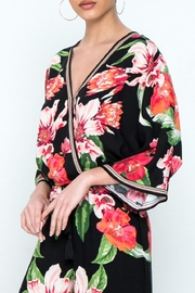 Flying Tomato Floral Wrap Blouse - Product Mini Image