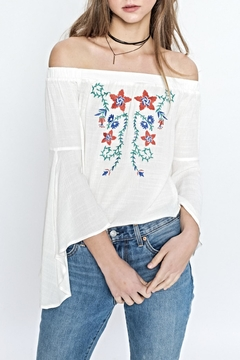 Flying Tomato Flower Embroidered Top - Product List Image